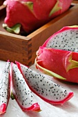 Slices of Dragon Fruit; Whole Dragon Fruit