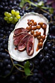 Duck breast with grape sauce