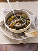 Beef stew from a slow cooker