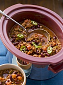 Chilli con carne made in a slow cooker