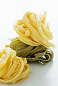 Tagliatelle in two colours