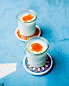 Yogurt with seabuckthorn juice and honey
