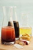 Red wine vinaigrette in a carafe