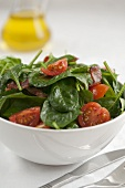 Spinach salad with cherry tomatoes