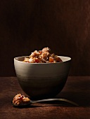 Spelt risotto with chestnuts and dates