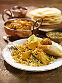 Chicken biryani with rice (India)