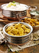 Chickern korma (chicken curry, India)