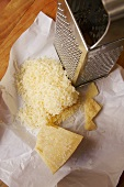 Parmesan, partly grated