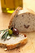 Olive bread and olives