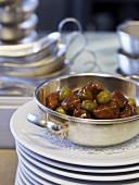 Lamb ragout with olives