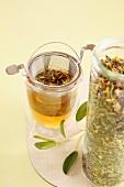 Floral herb tea