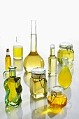 An arrangement of various oils