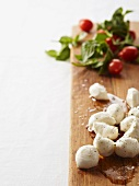 Mini tomatoes, basil and mini mozzarella balls