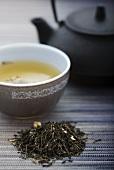 Jasmine tea and a Japanese teapot