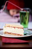 A slice of woodruff cake