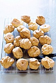 Cream Puffs on Cooling Rack