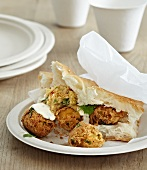 Falafel with flat bread
