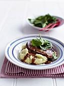 Steak Diane (beef steak with sauce)