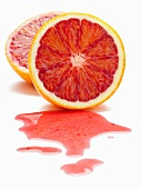 Blood orange, halved