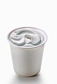 A pot of creamy yogurt
