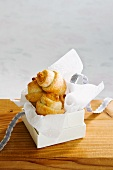 Almond and orange rugelach (stuffed Jewish yeast cakes)