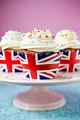Cupcakes in Union Jack cases