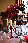 A decorative Christmas table