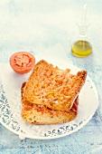 Pan Tumaca (tomato bread, Spain)