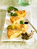 Potato tortilla with olives and capers (Spain)