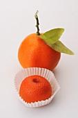 Clementinen (frisch und aus Marzipan)