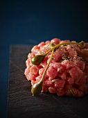 Tuna tartar with capers