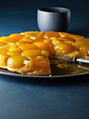 Sliced apricot tart