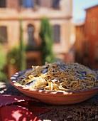 Spaghetti alla pescatora (spaghetti with fish, Italy)