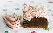 Peppermint Candy Cane Brownie; Candy Canes