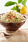 Couscous salad with vegetables and lemons