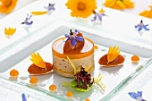 Goose liver terrine with apricots and almonds