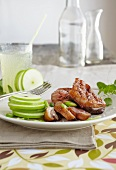 Glazed duck breast with a green apple salad