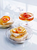 Semifreddo with citrus fruits