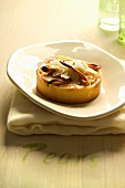 A pear and honey tartlet