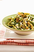 Pasta with nuts and herbs