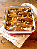 Lamb Shank Stew in a Pot; Fresh Carrots