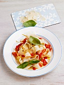 Tagliatelle with chilli rings and orange zest
