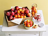 Nectarines, peaches and apricots for preserving
