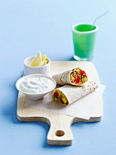 Vegetable wraps with herb quark