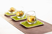 Fish terrine with salmon and zander in glasses