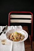 Fettuccine with rabbit ragout