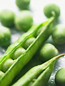Peas with a pod (close-up)