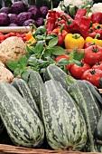 Basket of various vegetables