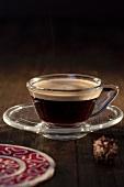 A cup of espresso crema