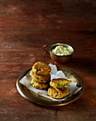 Chickpea fritters (Ayurvedic cuisine)